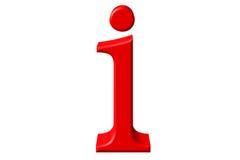 Kleine letter I, op wit wordt geïsoleerd, met het knippen van weg, 3D IL dat stock illustratie