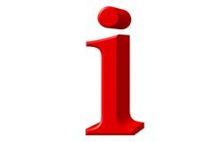 Kleine letter I, op wit wordt geïsoleerd, met het knippen van weg, 3D IL dat Stock Foto's