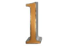 Kleine letter L, op wit wordt geïsoleerd, met het knippen van weg, 3D IL dat Stock Afbeelding