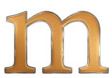 Kleine letter M, op wit wordt geïsoleerd, met het knippen van weg, 3D IL dat Stock Foto's