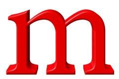 Kleine letter M, op wit wordt geïsoleerd, met het knippen van weg, 3D IL dat Stock Fotografie