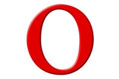 Kleine letter O, die op wit wordt geïsoleerd, met het knippen van weg, 3D IL Royalty-vrije Stock Foto's