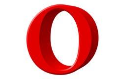 Kleine letter O, die op wit wordt geïsoleerd, met het knippen van weg, 3D IL Stock Afbeeldingen