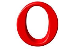 Kleine letter O, die op wit wordt geïsoleerd, met het knippen van weg, 3D IL Royalty-vrije Stock Foto