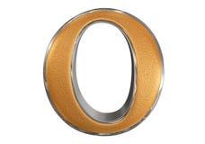 Kleine letter O, die op wit wordt geïsoleerd, met het knippen van weg, 3D IL Royalty-vrije Stock Afbeelding