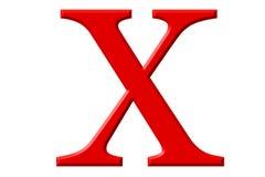 Kleine letter X, op wit wordt geïsoleerd, met het knippen van weg, 3D IL dat vector illustratie