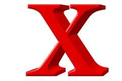 Kleine letter X, op wit wordt geïsoleerd, met het knippen van weg, 3D IL dat royalty-vrije illustratie