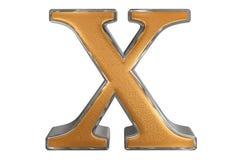 Kleine letter X, op wit wordt geïsoleerd, met het knippen van weg, 3D IL dat Royalty-vrije Stock Foto's