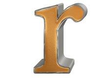Kleine letter R, op wit wordt geïsoleerd, met het knippen van weg, 3D IL dat Stock Foto's