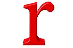 Kleine letter R, op wit wordt geïsoleerd, met het knippen van weg, 3D IL dat vector illustratie