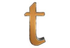 Kleine letter T, op wit wordt geïsoleerd, met het knippen van weg, 3D IL dat stock illustratie