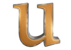 Kleine letter U, op wit wordt geïsoleerd, met het knippen van weg, 3D IL dat Stock Afbeelding