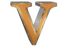 Kleine letter V, op wit wordt geïsoleerd, met het knippen van weg, 3D IL dat Stock Foto's