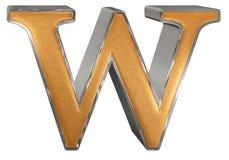 Kleine letter W, op wit wordt geïsoleerd, met het knippen van weg, 3D IL dat Royalty-vrije Stock Foto