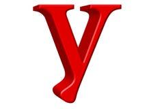 Kleine letter Y, die op wit wordt geïsoleerd, met het knippen van weg, 3D IL Royalty-vrije Stock Afbeelding
