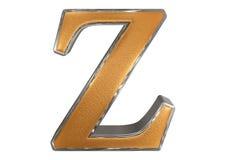 Kleine letter Z, die op wit wordt geïsoleerd, met het knippen van weg, 3D IL vector illustratie