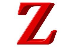 Kleine letter Z, die op wit wordt geïsoleerd, met het knippen van weg, 3D IL Stock Afbeelding