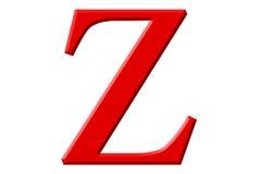 Kleine letter Z, die op wit wordt geïsoleerd, met het knippen van weg, 3D IL Stock Foto