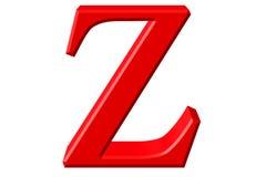 Kleine letter Z, die op wit wordt geïsoleerd, met het knippen van weg, 3D IL Royalty-vrije Stock Foto's