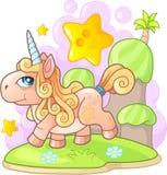 Kleine leuke poneyeenhoorn, grappige illustratie vector illustratie