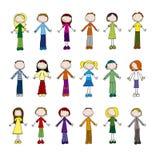 Kleine Leute Stock Abbildung
