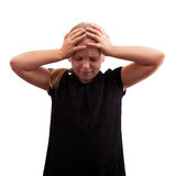 Kleine Mädchenkopfschmerzen Stockfotografie