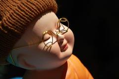 Kleine Mönch-Porcelain-Puppe Lizenzfreie Stockbilder