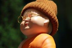 Kleine Mönch-Porcelain-Puppe Stockfoto