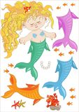 Kleine Meerjungfrau Lizenzfreie Stockbilder