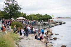 Kleine Meerjungfraustatue in Kopenhagen Lizenzfreie Stockfotos