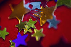 Kleine mehrfarbige Sterne Stockfotografie