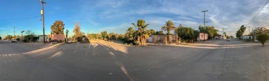 Kleine Mexicaanse het dorpsmening van Adolfo Lopez Mateos stock afbeelding