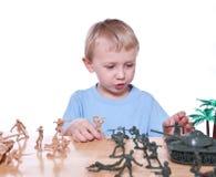 kleine militairen Stock Afbeelding