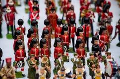 Kleine militairen voor verkoop bij Portobello-Markt stock fotografie