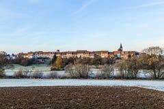 Kleine mittelalterliche Stadt Walsdorf lizenzfreie stockbilder