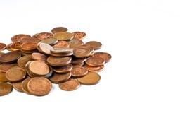 Kleine muntstukkencenten stock afbeelding