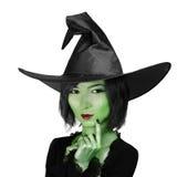 Kleine nette Hexenfrau Stockfotos