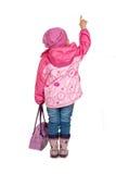 Kleine nette Mädchenshows Lizenzfreies Stockfoto