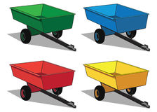 Kleine nutsaanhangwagen Stock Afbeeldingen