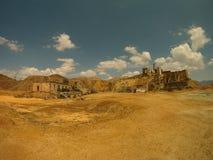 Kleine oase in de woestijn royalty-vrije stock afbeeldingen