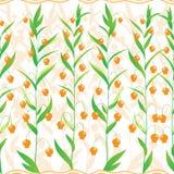 Kleine oranje bloemen royalty-vrije illustratie