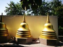 Kleine pagode met gouden kleur stock foto's
