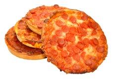 Kleine Pepperonispizza's Stock Afbeeldingen