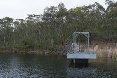 Kleine Pier, Barossa-Reservoir, Barossa-Vallei, Zuid-Australië Royalty-vrije Stock Fotografie