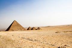 Kleine Piramides van Giza, Egypte stock fotografie