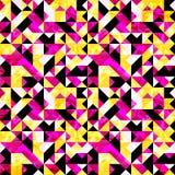 Kleine Pixel extrahieren geometrische nahtlose Mustervektorillustration Stockbilder