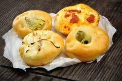 Kleine pizza's stock afbeelding