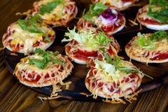 Kleine Pizza's Royalty-vrije Stock Fotografie