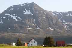 Kleine plaats in Noorwegen Stock Afbeelding