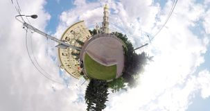 Kleine Planet Uspenskiy-Kathedrale Kharkov Ukraine stock video footage